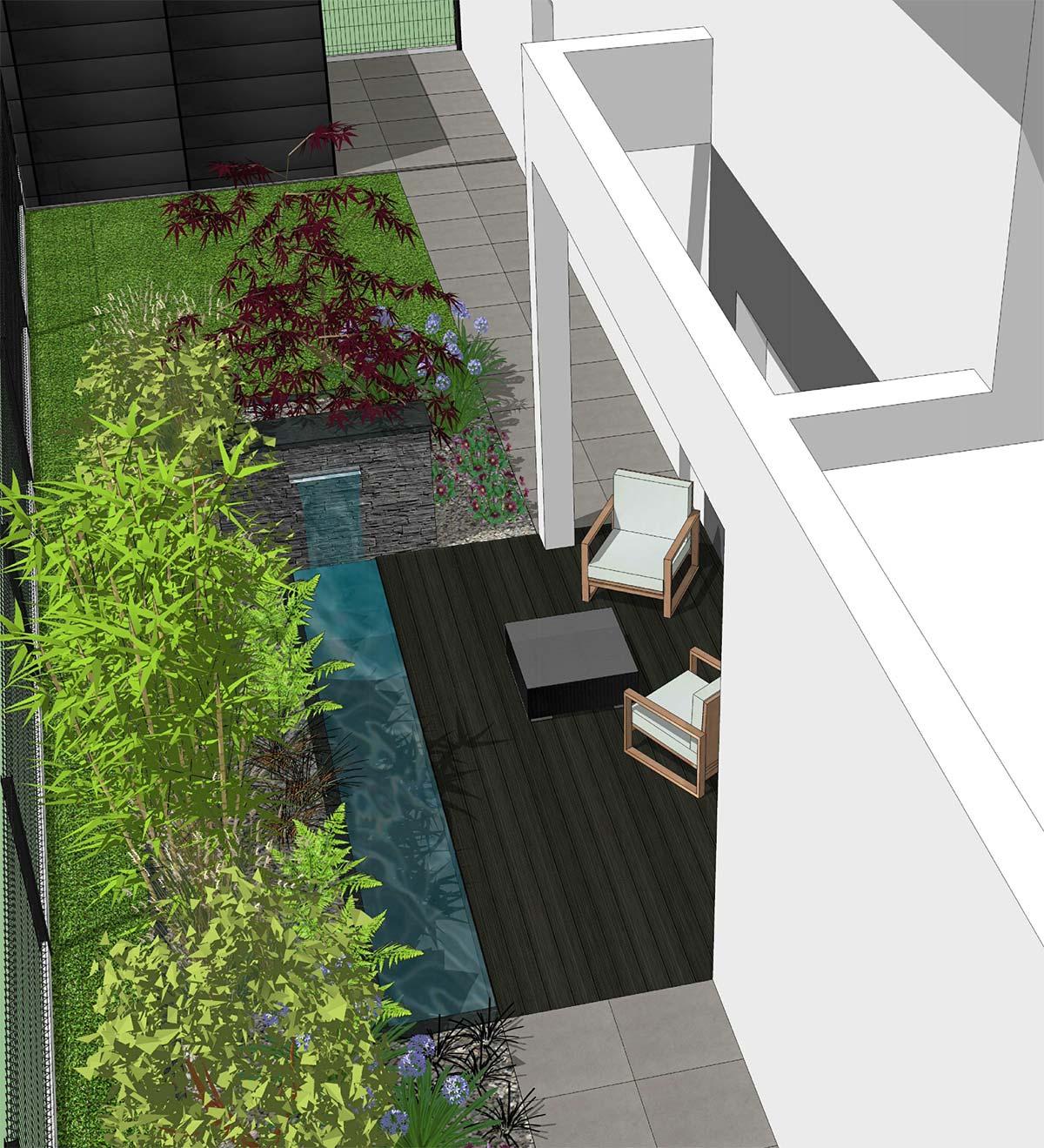 Architecte Jardin 3D Gratuit conception création plans jardins extérieurs 3d rennes saint