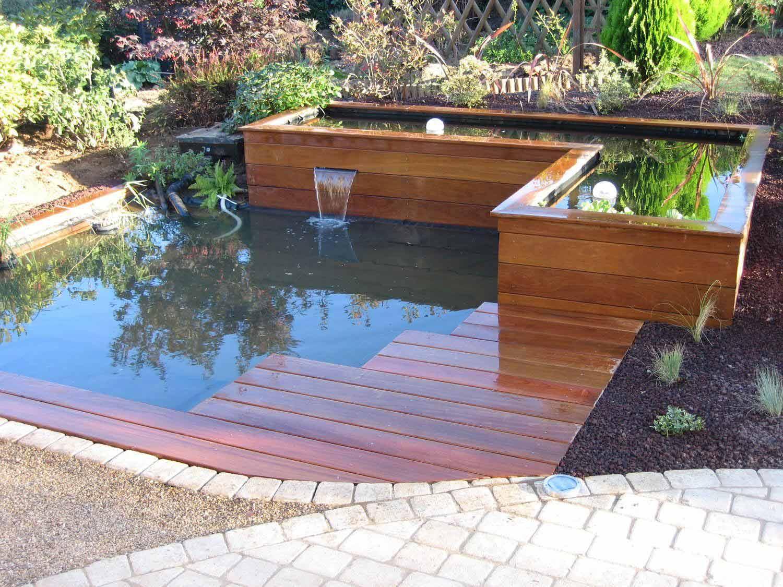 Creation Bassin De Jardin Naturel Pas Japonais Ponton Bois