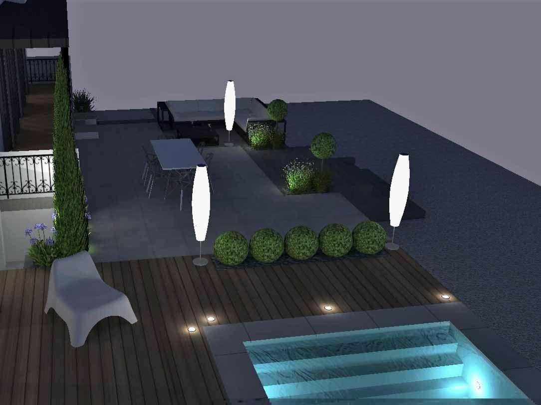 Création Eclairage Extérieur Mise En Lumière Jardins ...